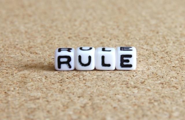 ルールに忠実に書く